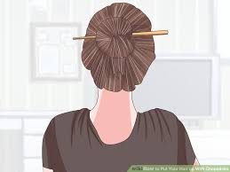 hair chopsticks 3 ways to put your hair up with chopsticks wikihow