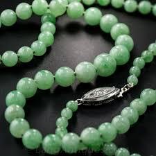 beaded jade necklace images Vintage jade bead necklace colored gemstones pinterest jade jpg
