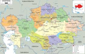 Political Map Of South Asia by Detailed Clear Large Map Of Kazakhstan Ezilon Maps