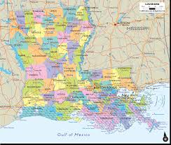 Phoenix Road Map by Map Of Louisiana With Cities Towns And Counties Also With