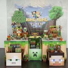 minecraft backdrop parteeboo the party designers parteeboo instagram photos and