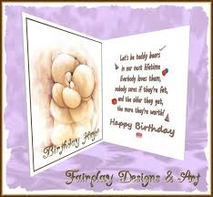 birthday greeting cards second marketplace fda teddy bears birthday greeting card