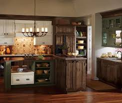 Rustic Kitchen Cabinets Decora Brand Airedale Style Cherry Wood Mink Finish Rustic