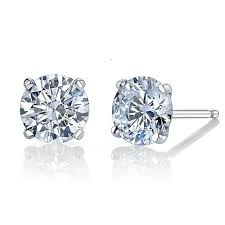 moissanite earrings moissanite earrings 14k white gold moissanite earring