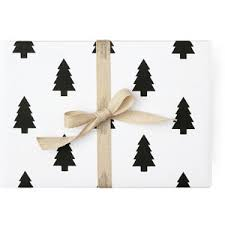black and white christmas wrapping paper pine christmas tree wrapping paper black and white patt