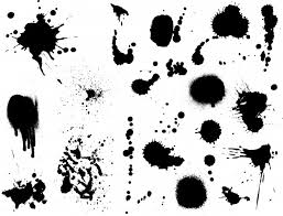 large collection of detailed ink splats vector free