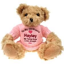 engraved teddy bears personalised lt brown teddy personalised gifts