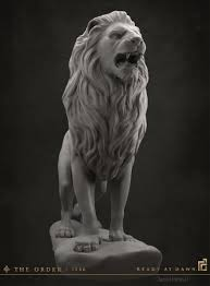 lion statue artstation the order 1886 lion statue daniel peteuil