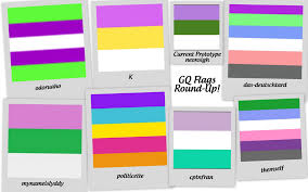 Color Symbolism by Genderqueer And Non Binary Identities Collage Of The Flag