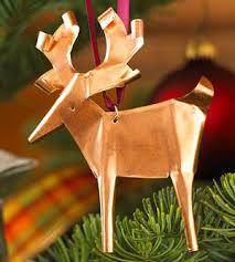 copper reindeer ornament