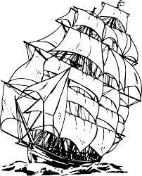pirate ship clipart black and white free 5 clipartix