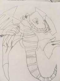 blue eyes toon dragon drawing ygo amino