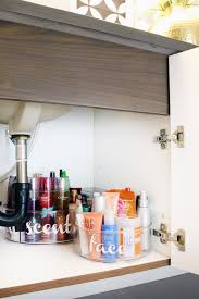 how to organize the sink cabinet bathroom sink organization ideas blue i style