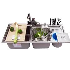 fantastic kitchen faucet for triple bowl sink u2013 the top