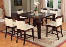 8 chair square dining table amaretto counter height dining room set from coaster trends with