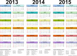 2013 2014 2015 calendar 2 three year printable excel calendars