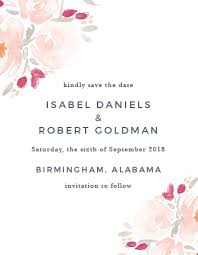 save the date card save the date cards match your colors style free basic invite