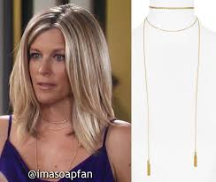 how to get laura wright s healthy hair carly corinthos s gold chain layered wrap necklace general