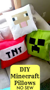 diy minecraft pillows no sew tutorial sewing diy creepers and