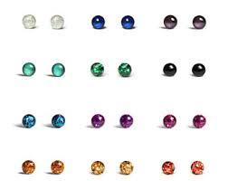 surgical steel stud earrings 4mm studs etsy