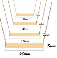 Name Bar Necklace Online Shop Personalized Nameplate Gold Color Necklace Custome