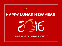 announcement on 2016 lunar new year holidays