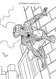 spiderman coloring sheets coloring pages