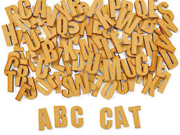 wooden collage letters at lakeshore learning
