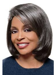african american hairstyles for grey hair medium straight grey hair wig for black women old ladies wigs