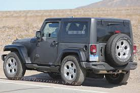 jeep lifted 2 door spied 2018 jeep wrangler prototype caught with live axle setup