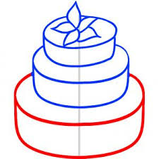 A Wedding Cake How To Draw How To Draw A Wedding Cake Hellokids Com