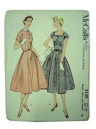retro 50s sewing pattern mccalls 3139 50s mccalls 3139