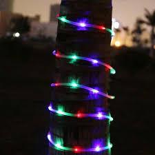 solar powered tube lights 23ft 50 led solar power tube lights strip waterproof outdoor garden