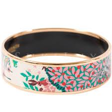 hermes bracelet images Herm s printed enamel bracelet wide dans un jardin anglais sukilux jpg