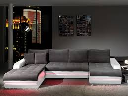 canap contemporain design tissu canapé d angle design en tissu gris et pvc blanc horus avec