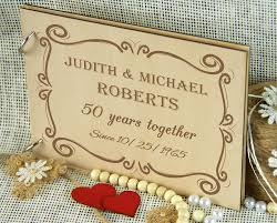 anniversary guest book 50 years golden anniversary album personalized wedding guest