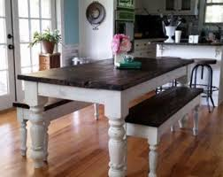 Farm Table With Bench And Chairs Kitchen U0026 Dining Tables Etsy