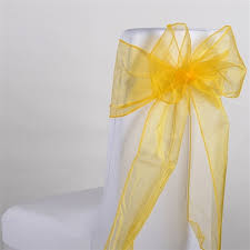 Gold Chair Sashes Old Gold Organza Chair Sash 10 Pieces