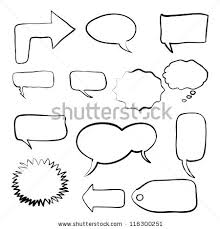think bubble talk bubble collection sketch stock vector 116300251