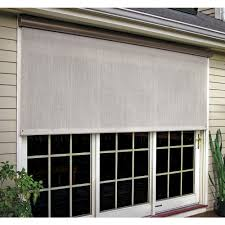 levolor window treatments the home depot coral white vinyl exterior solar shade left motor with full bronze