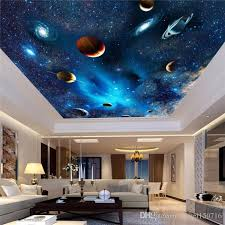 custom 3d space mural wallpaper astronomical galaxy planet