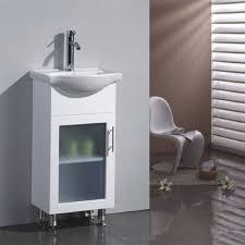 narrow depth bathroom vanity design house concord white gloss