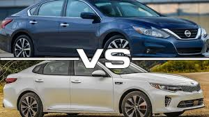Nissan Altima Hybrid 2016 - 2016 nissan altima vs 2016 kia optima youtube
