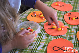 halloween themed birthday party games halloween activites candy corn counting mess for less