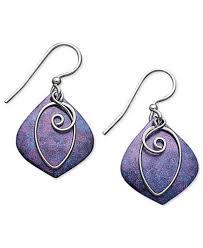 purple drop earrings jody coyote patina bronze earrings purple drop earrings