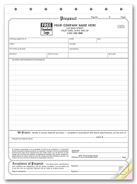 proposal contract template contractor work proposal template