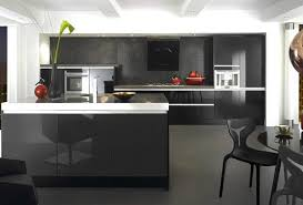 High Gloss Black Kitchen Cabinets High Gloss Black Kitchen Cabinets Home Interior