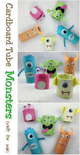 cardboard tube monsters halloween craft cardboard tube crafts