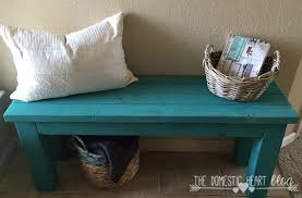 turquoise 2x4 entry bench hd monthly challenge