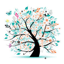 floral tree beautiful stock vector colourbox